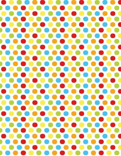 INSTANT DOWNLOAD Sesame Street Primary Colors Paper Polka Dots Party Supplies And Decorations