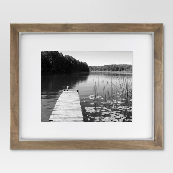 16 X 20 Matted To 11 X 14 Wood And Metal Edge Frame Brown Threshold In 2020 Picture Frames Frames On Wall Entryway Inspiration