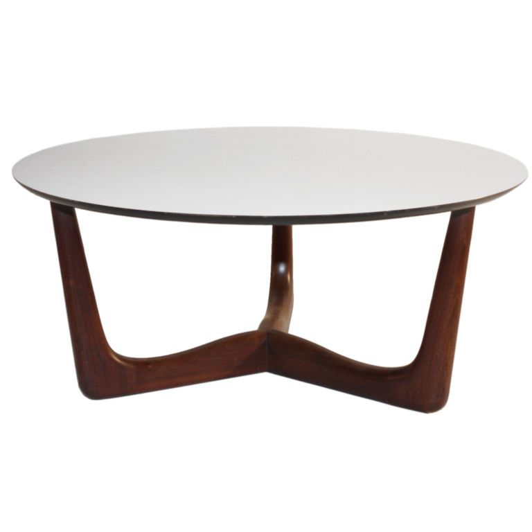 1960 S Danish Modern Style Round Coffee Table From A Unique