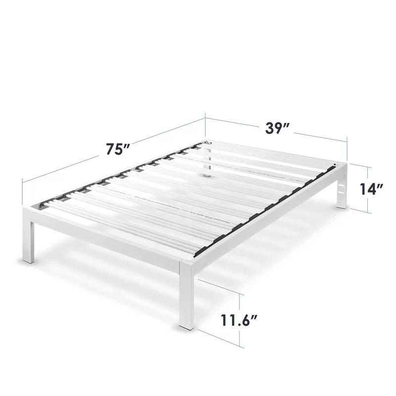 Hammonds White Metal Platform Bed Frame In 2020 Metal Platform