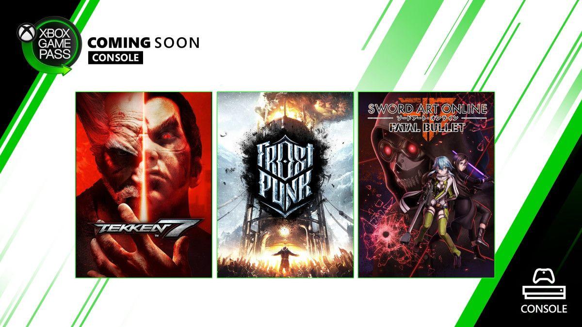 Xbox Game Pass for Console Adds Tekken 7, Sword Art Online