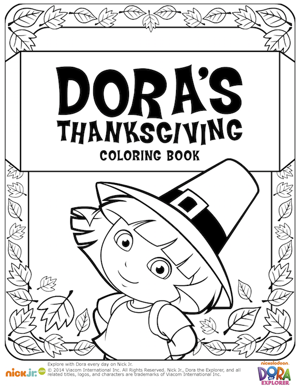 dora thanksgiving coloring book kids thanksgiving coloring pages and printables