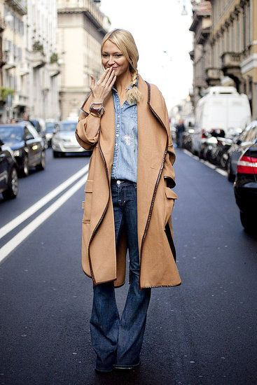 [SS12 Milan Fashion Week] All jeans + cape = I am not sure who else could pull this off but Zanna Roberts Rassi