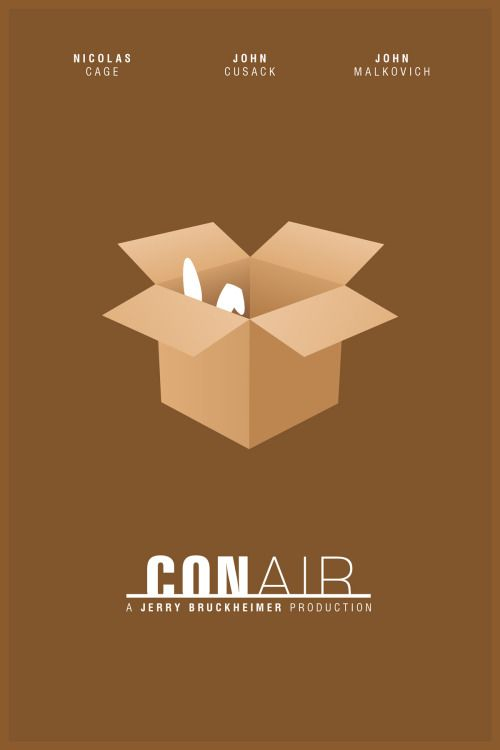 Con Air 1997 Minimal Movie Poster By Foursquare