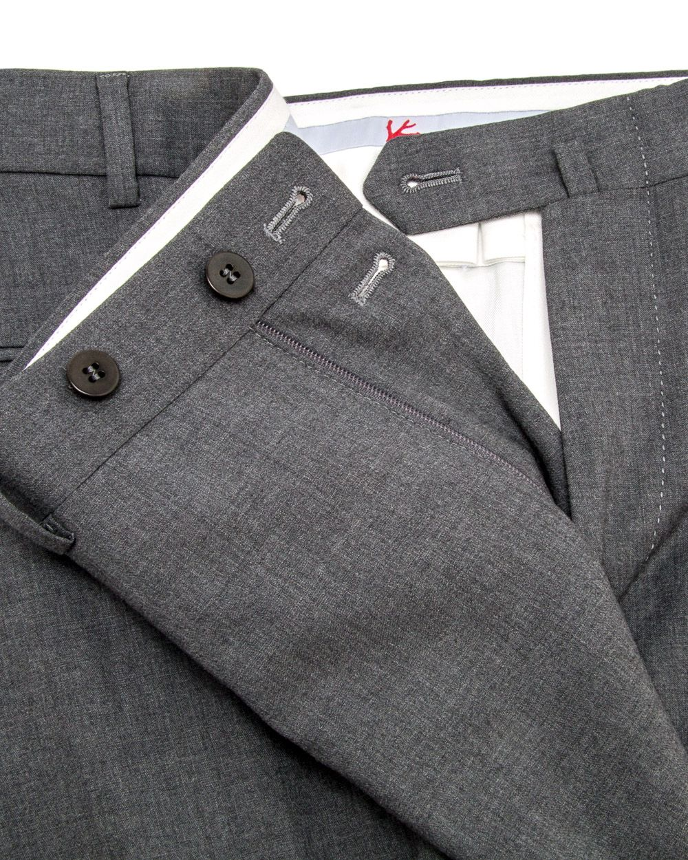 Isaia   Light Grey Dress Pant   Apparel   Men's