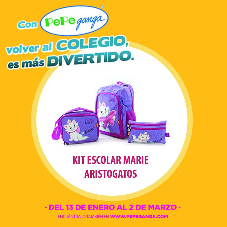 ¡Invita a Marie de los Aristogatos a tu primer día de clases más divertido!  Encuentra más personajes y útiles escolares en http://www.pepeganga.com/escolar.html/