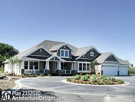 Plan 23320Jd: Modern Rambler With Upstairs Bonus Room | Bonus