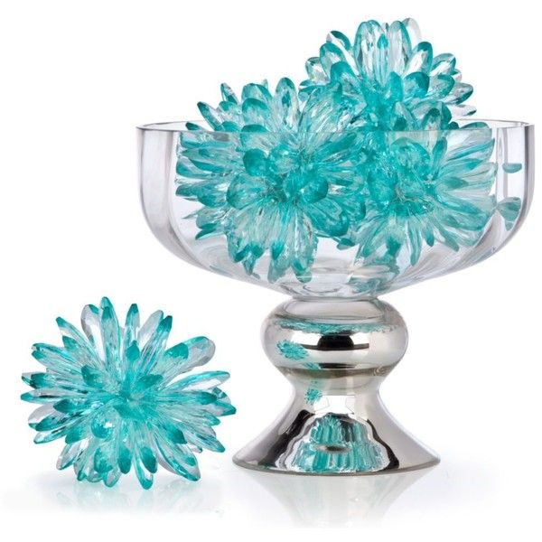 Crystal Flower Sphere ($16) ❤ Liked On Polyvore Featuring Home, Home Decor,