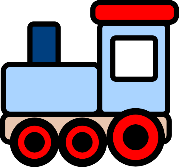little blue train clip art vector clip art online royalty free rh pinterest co uk free train clip art illustrations free track clipart