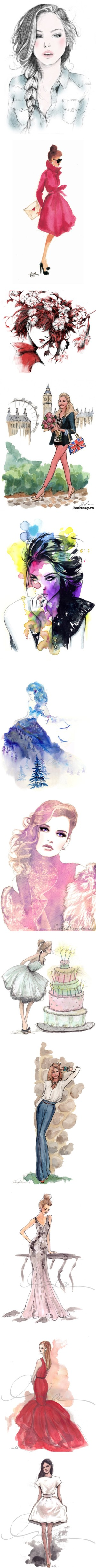 SKETCHES & PEOPLE by mevsab on Polyvore featuring drawings, fillers, sketches, backgrounds, people, doodles, text, quotes, embellishments and detail