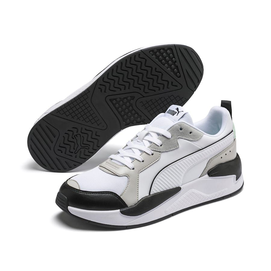 PUMA X Ray Game Trainers in WhiteGrey VM Green size 9.5