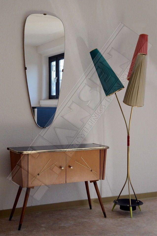 50er 60er Jahre Tütenlampe Lampe Stehlampe Rockabilly Tulpenlampe ...