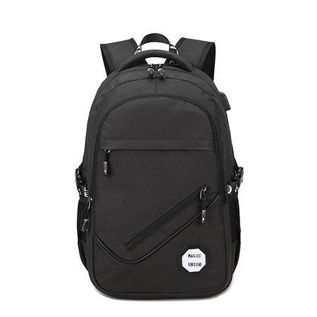302131abfb5a Men Oxford Fabric Backpack College Student Bag Usb Charging Waterproof  Laptop Backpack