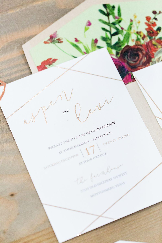 Birch and Copper Wedding Inspiration with Modern Romance | Modern ...