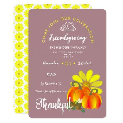 Friendsgiving Thankful Celebration Rustic Card - thanksgiving