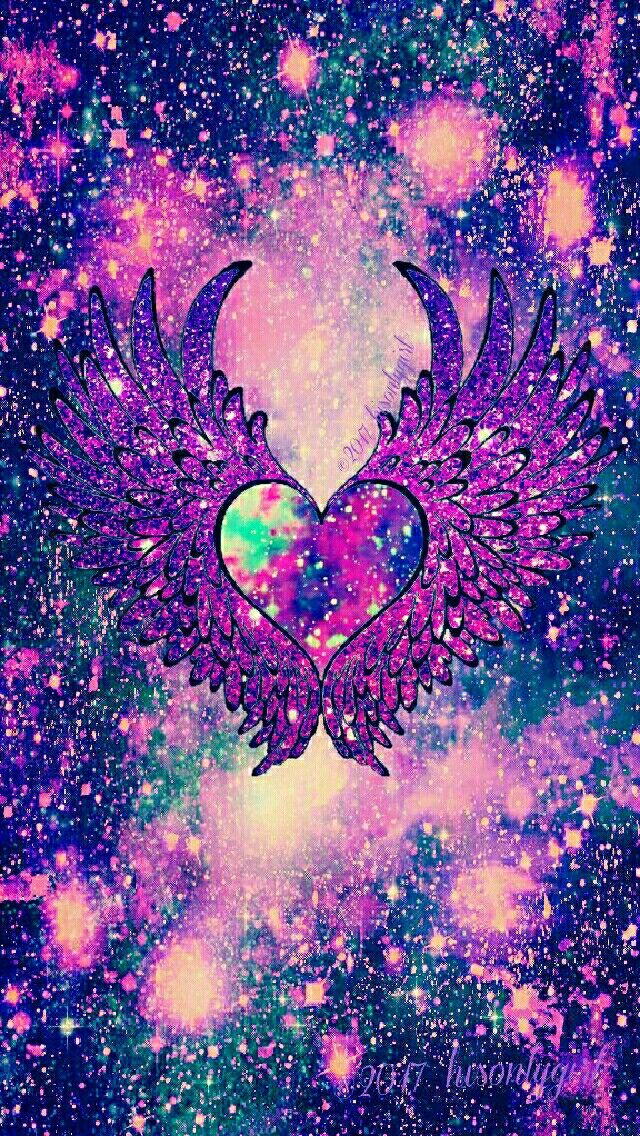 Dark Fantasy Angel Heart Wings Galaxy IPhone Android Wallpaper I Created For CocoPPa