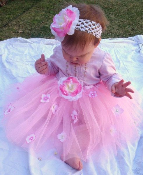 1st birthday outfit 1st Birthday Dress Flower by VioletsVelvetBox, $26.00