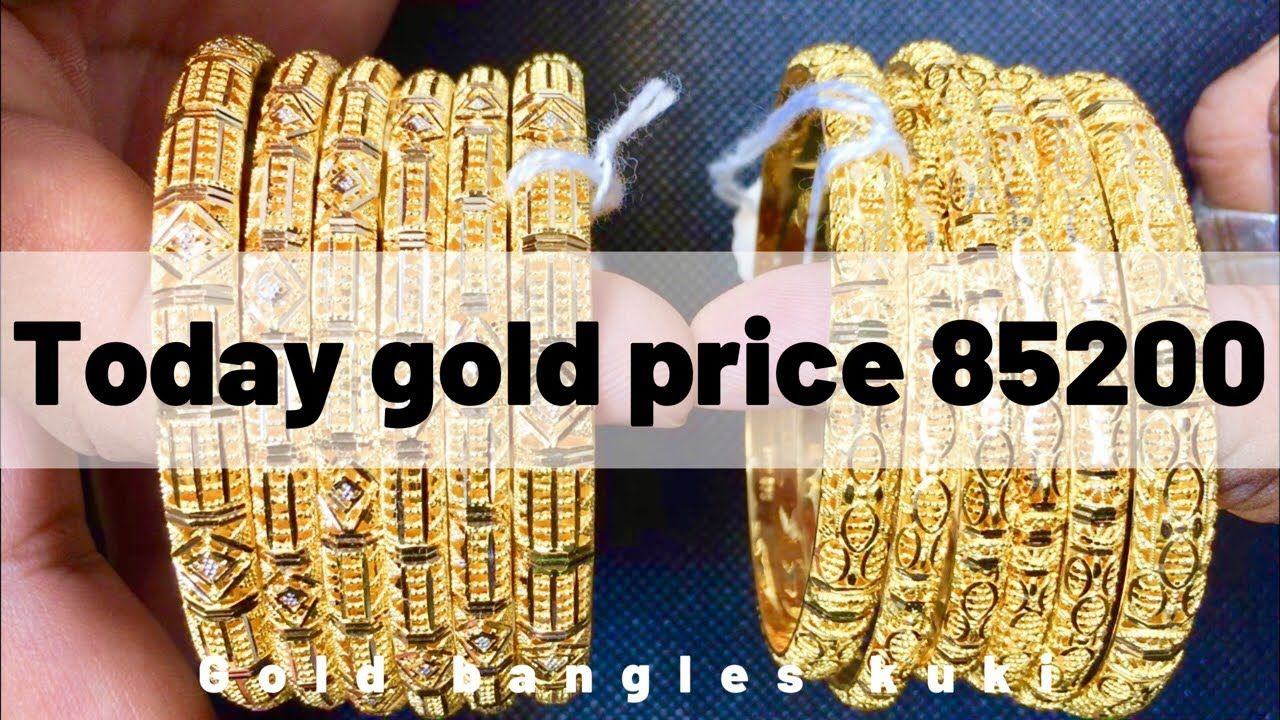 Gold rate today in pakistan 2 designs latest gold bangles