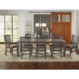 Shop For Luma 9 Piece Solid Wood Dining Set. Get Free Delivery At Overstock