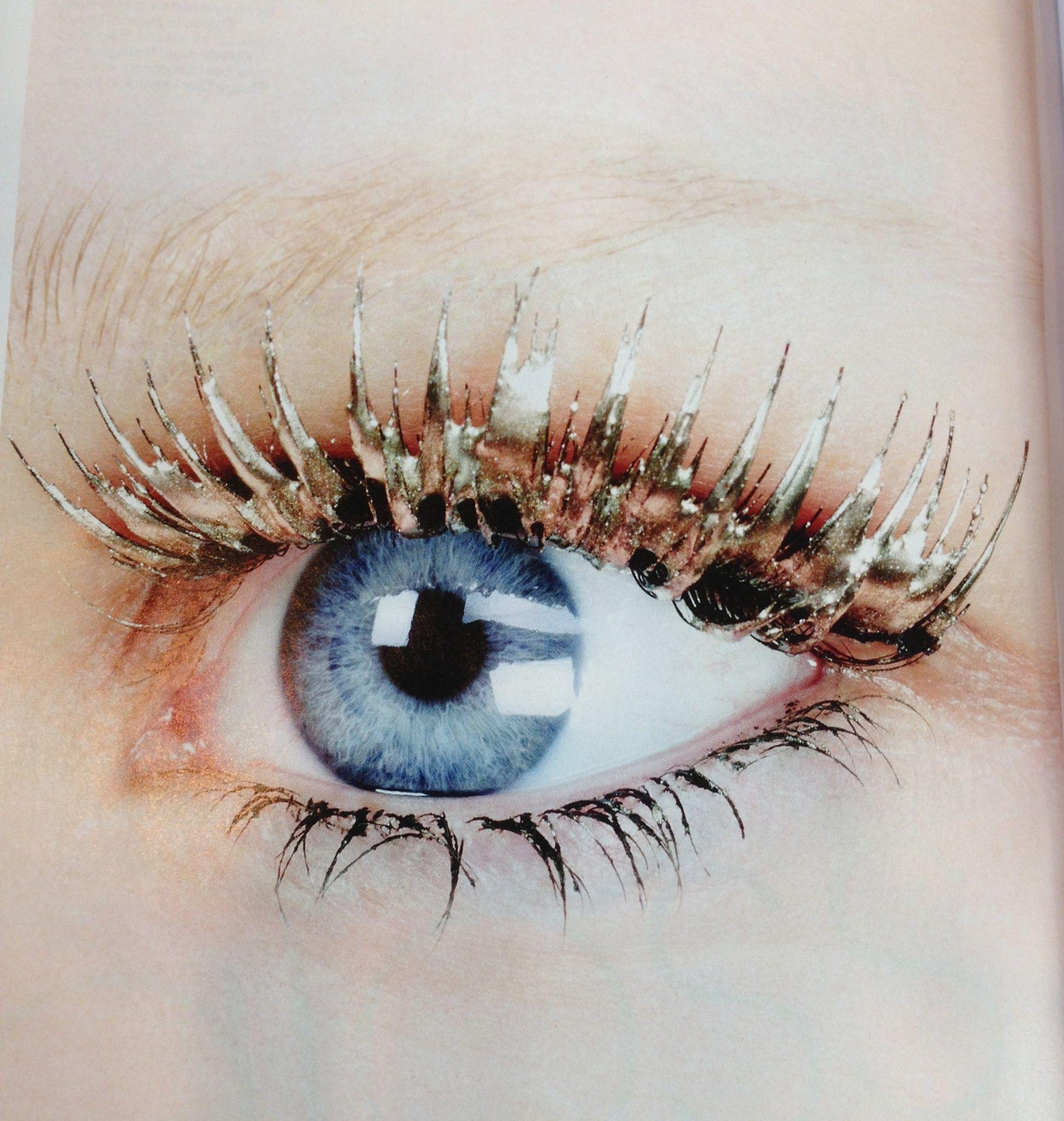 Lovely golden lashes! Celebrity makeup artist, Celebrity