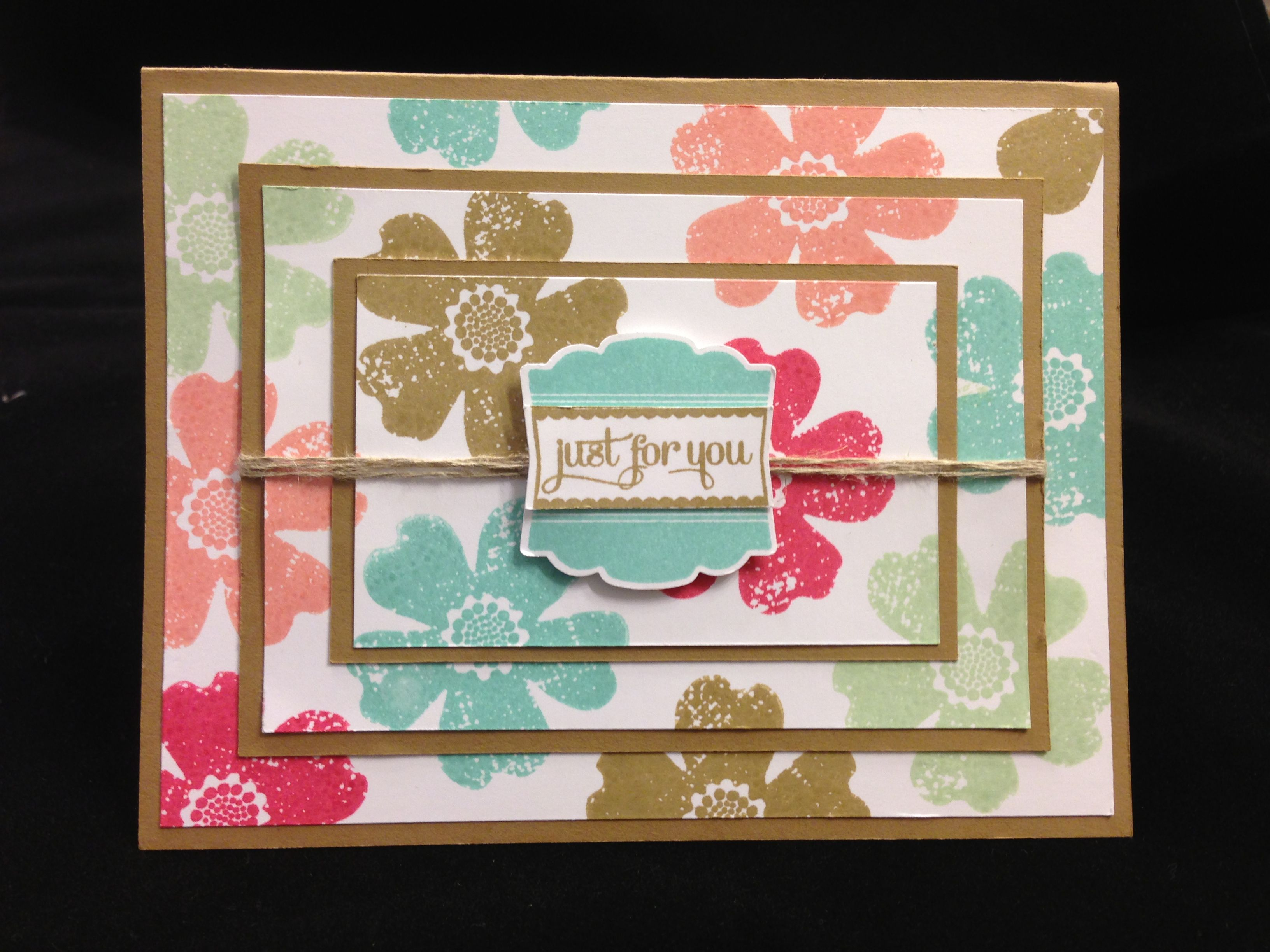 flower shop and label lovenew incolors  stampin up