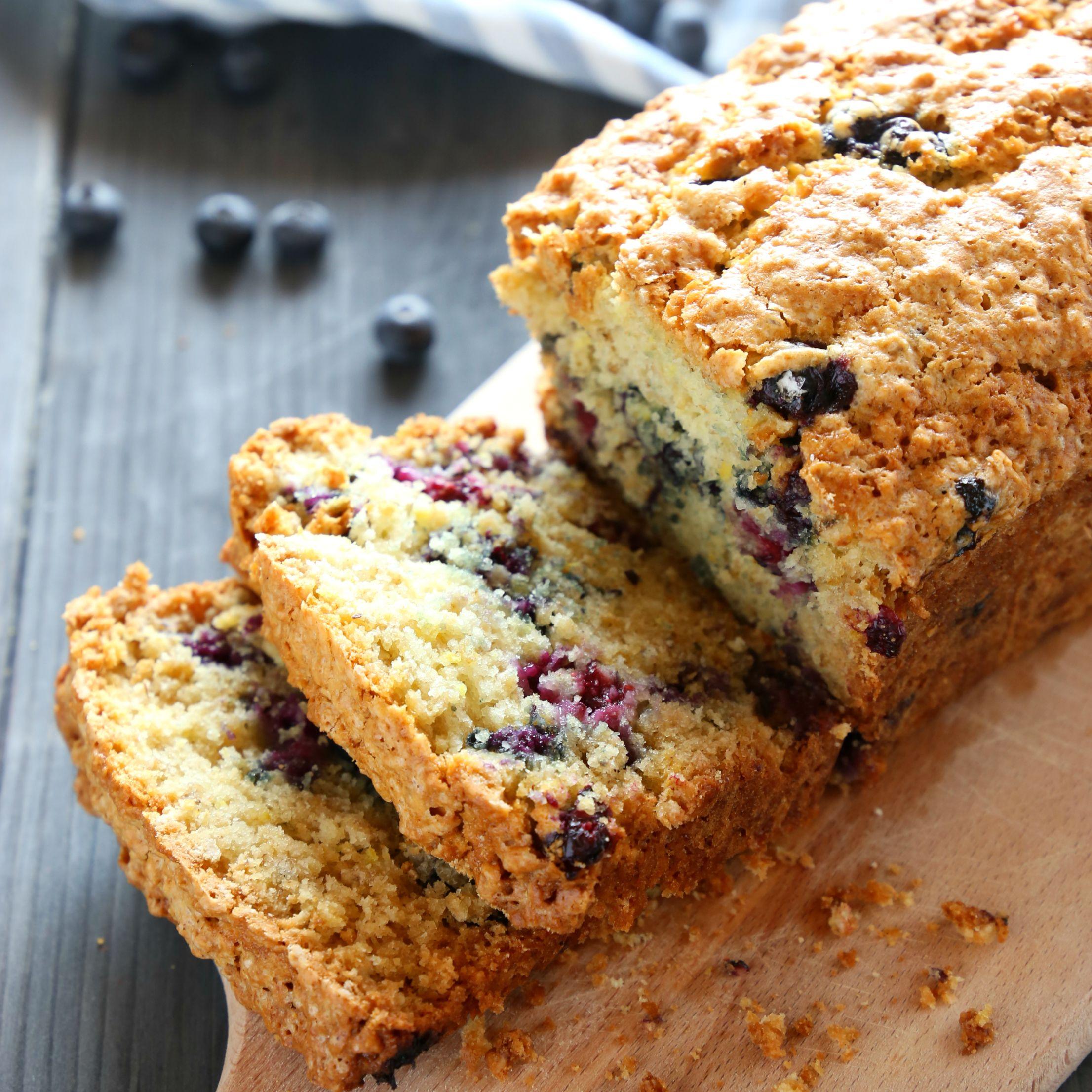 lemon blueberry oat bread  recipe  blueberry oat baking