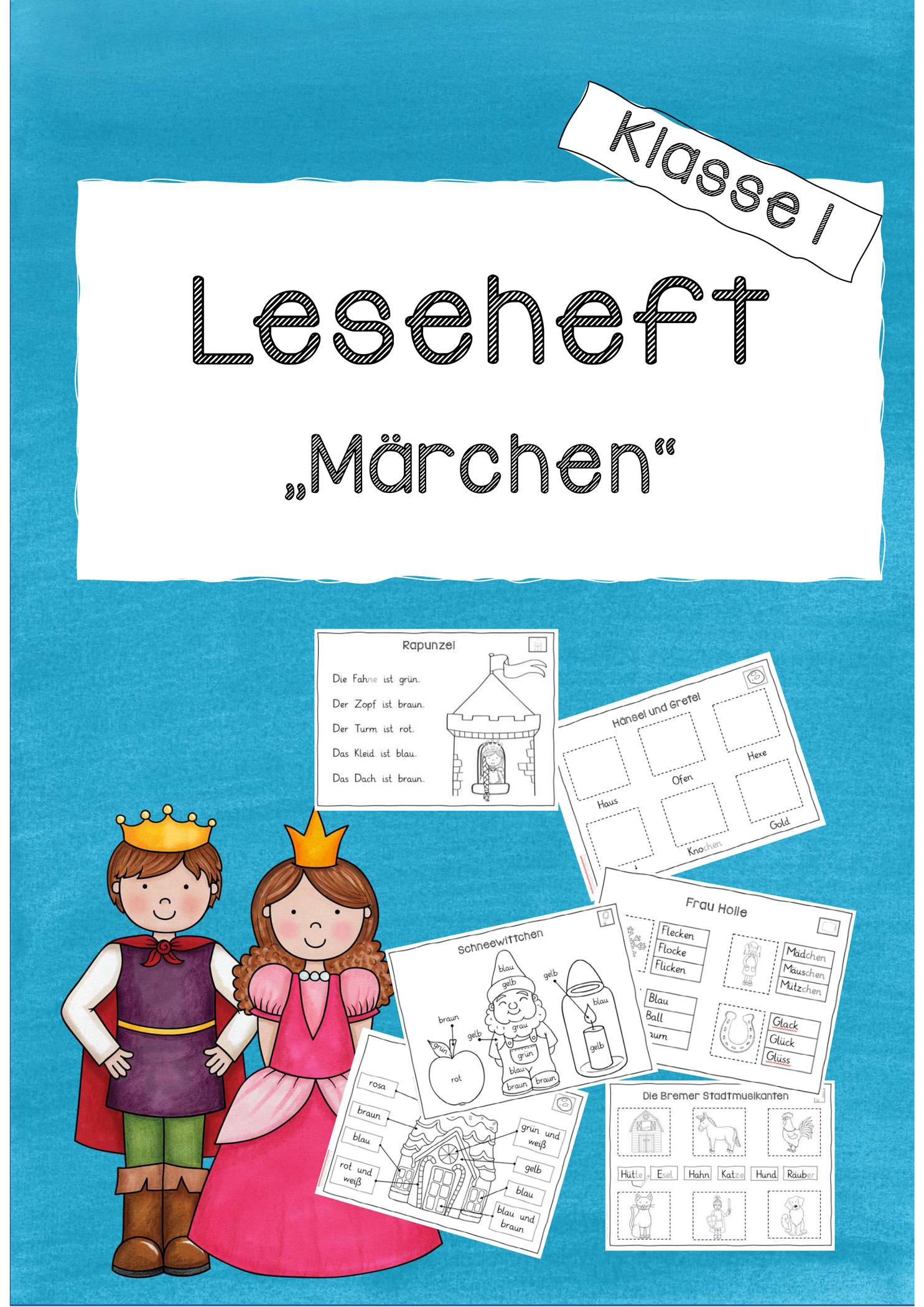 leseheft märchen klasse 1 – unterrichtsmaterial im fach