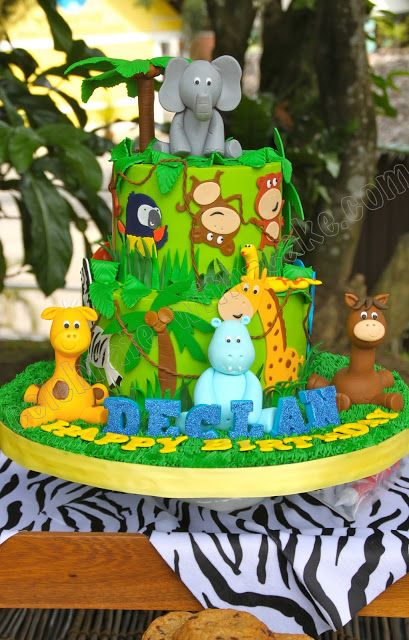 Celebrate with Cake!: Jungle Safari Dessert Table Party
