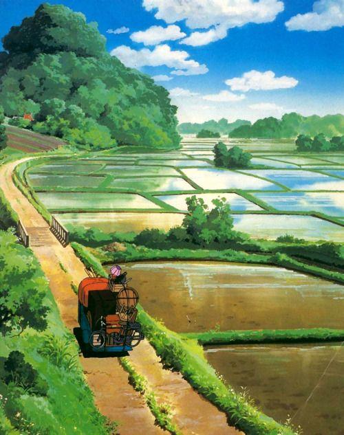 Paisaje japones del Estudio Ghibli