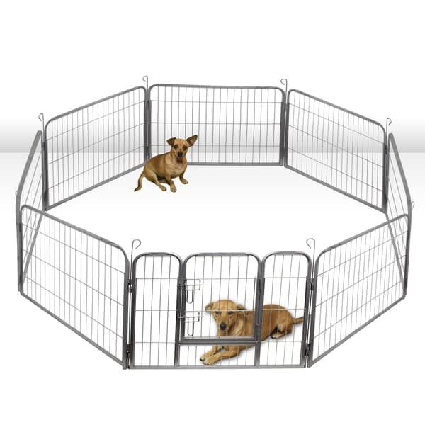 OxGord Heavy Duty Portable Metal (Grey) Exercise Dog Playpen (Small) | Dog  Playpen, Playpen And Bed Furniture
