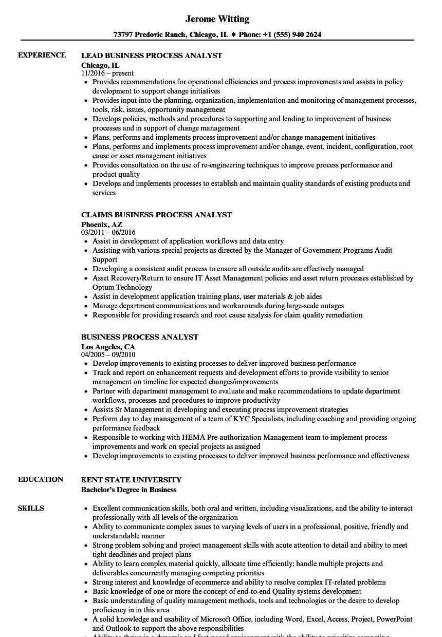 Business analyst resume examples welldesigned business