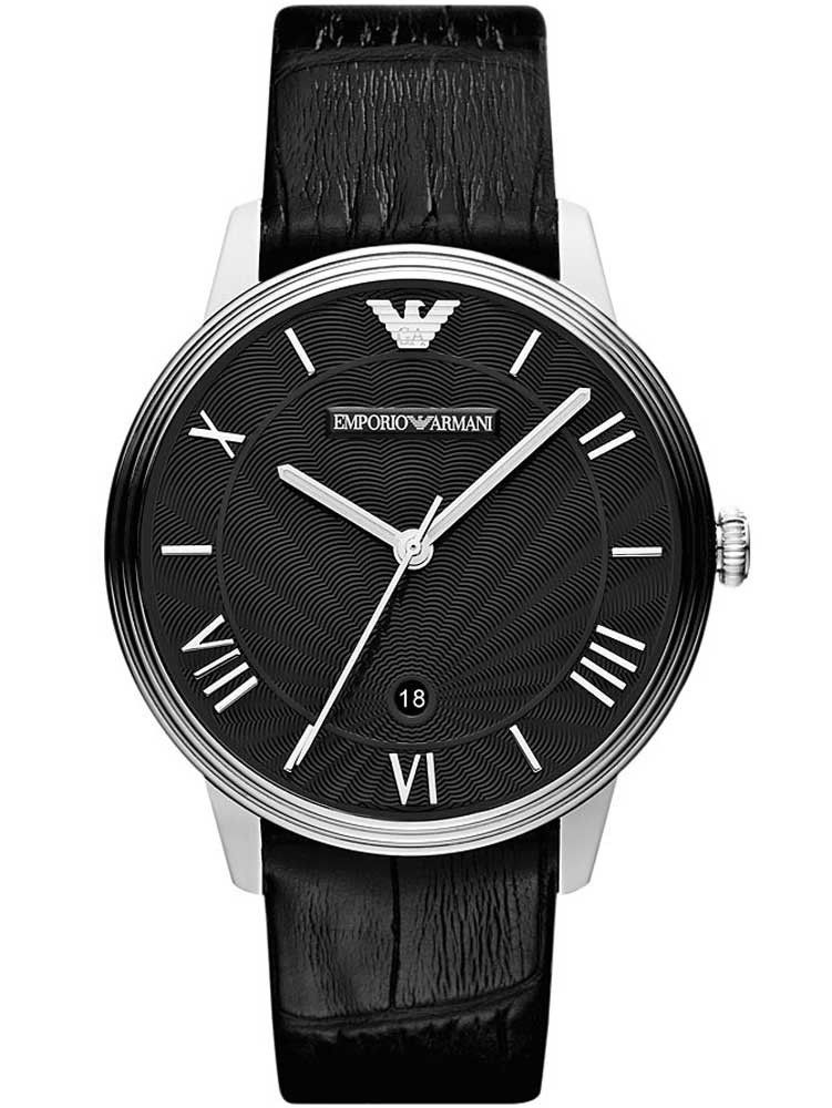 b6fae22d4ea6 Emporio Armani Gents Stainless Steel Black Dial Black Strap Men s Watch  AR1611