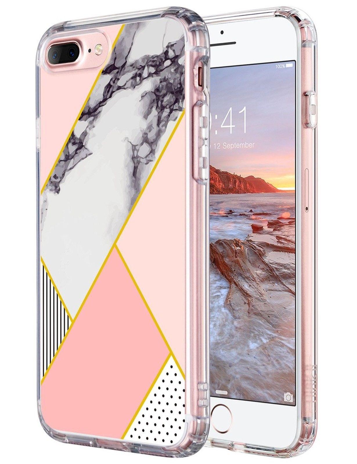 on sale 6f974 79248 iPhone 7 Plus Case ULAK [Clear Slim] Pattern Hybrid Shock Absorbing ...