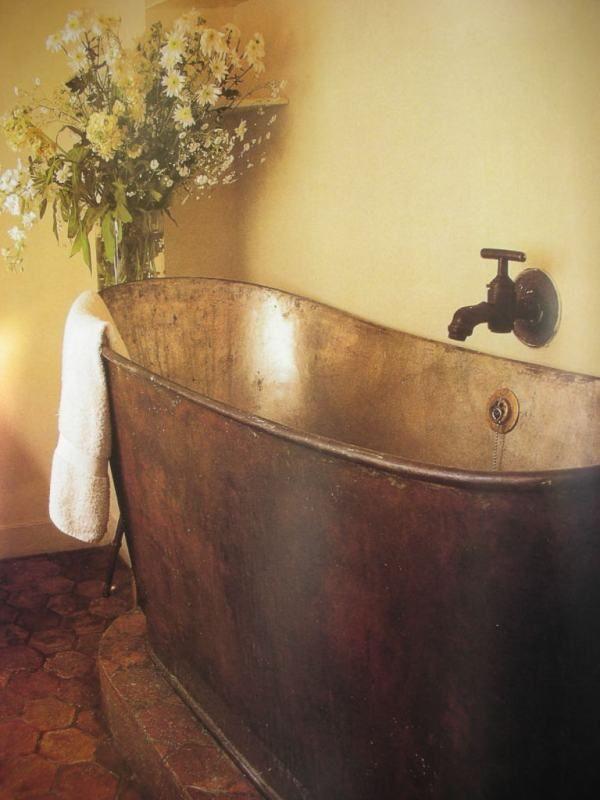 Antique Copper Bath In A Parisian Apartment Ladies And