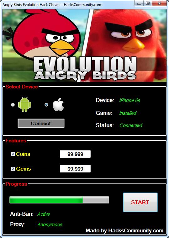 angry birds evolution hack no human verification