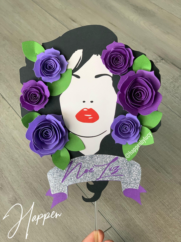 Selena Purple Como la Flor Inspired Cake Topper • Selena