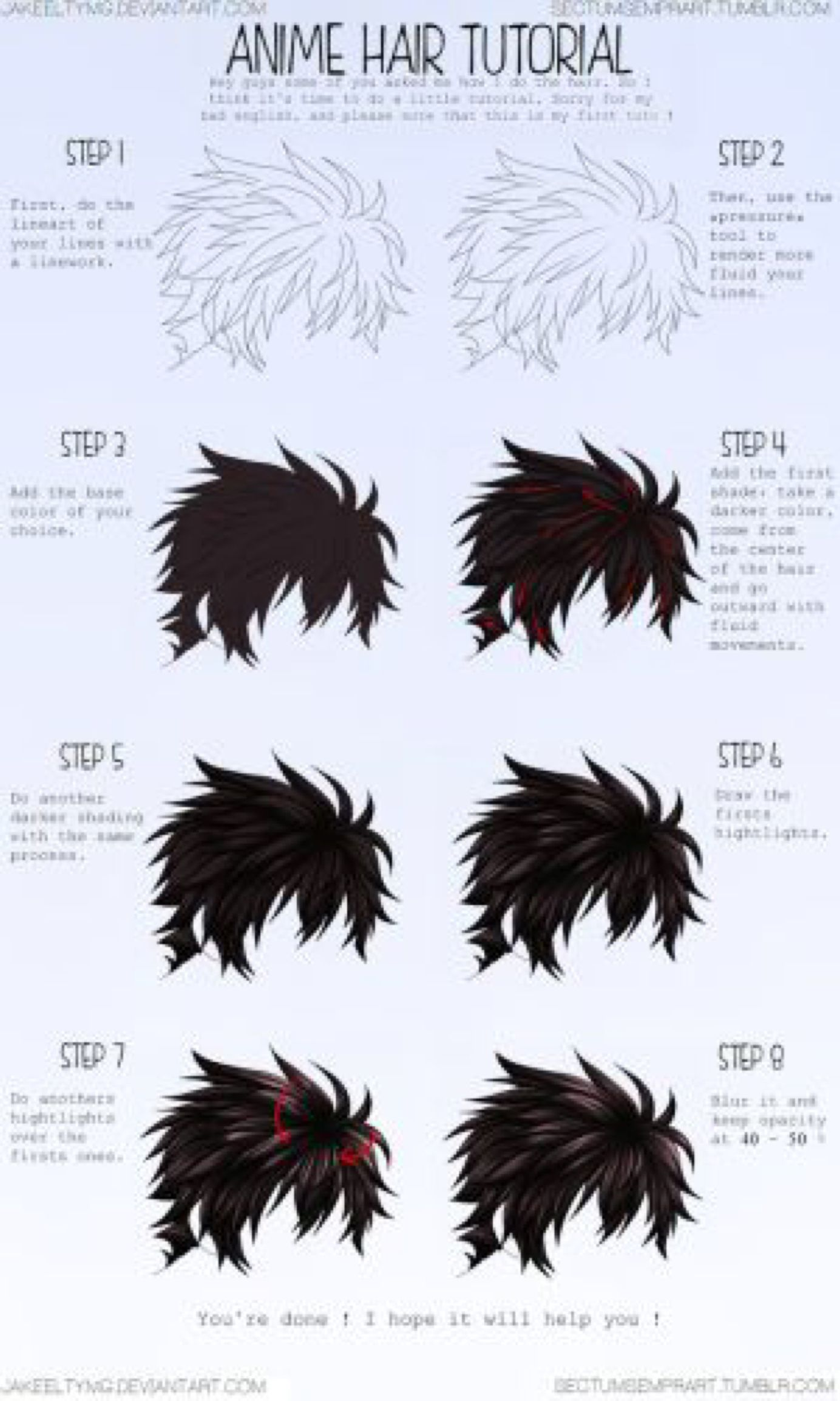 Hair Colouring Tutorial Coloring Tutorial Digital Art Tutorial Anime Drawings Tutorials