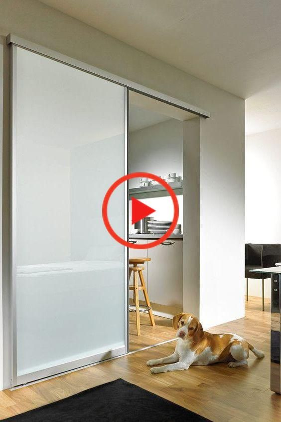 Sliding glass door with aluminum frame and frosted glass. sliding | Glass door | Frosted glass | Sliding glass | Glass doors Interior | Sliding Kit | Sliding glass doors interior | Construction glass sliding door # # # sliding door glass door # kitchen #glasdoor #slidingdoor #interiordesign #kitchen #einrichtung #wohnen #hausbau #summerhouse}