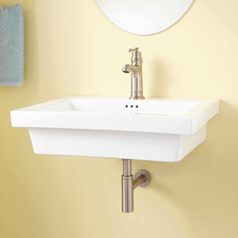 Kalizo Rectangular Porcelain Wall-Mount Sink | Wall Mounts ...