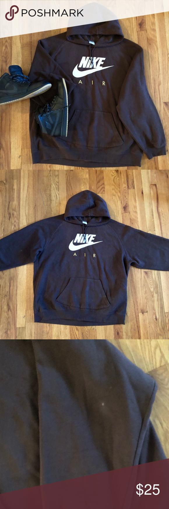 b163a2222589 🔥Nike Air Hoodie🔥 Chocolate brown Nike hoodie Drawstring