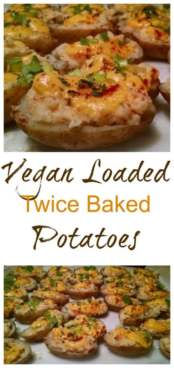 Vegan Loaded Twice Baked Potatoes