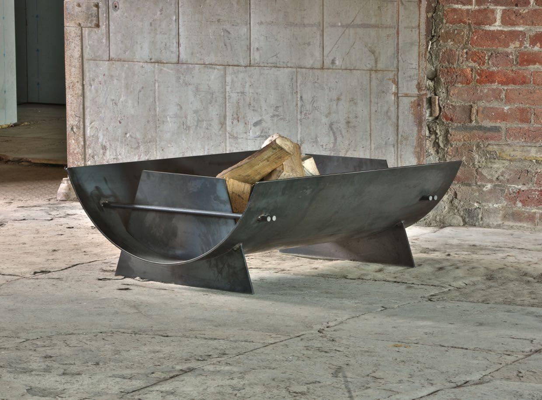 Scowle Outdoor Steel Firepit Brasero Mobilier De Salon Soudure