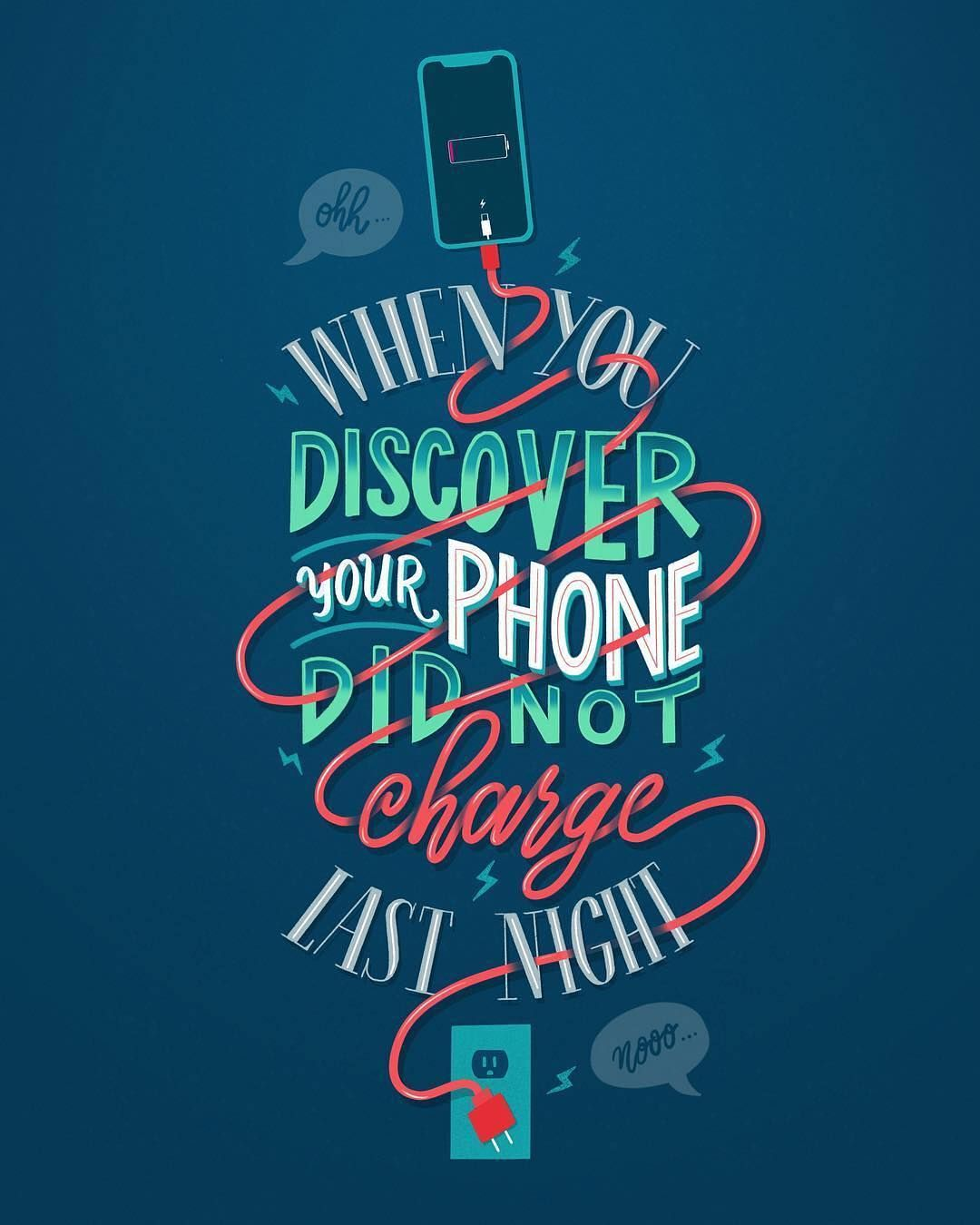 Your phone did not charge | Typography | Typography design