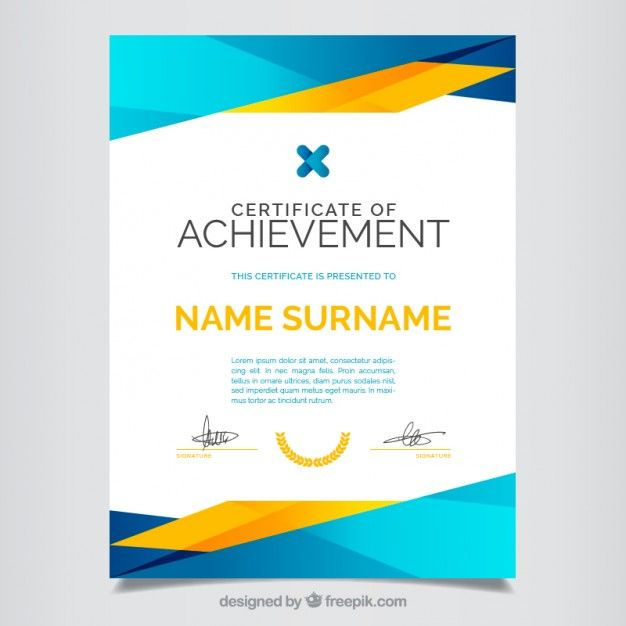 Certificate of achievement, full color Free Vector Graphic Design - certificates free download free printable