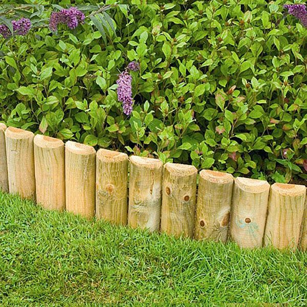 Add Some Detail To Your Borders With Forest Wooden Border Log Roll From  Webbs Direct Garden Centre