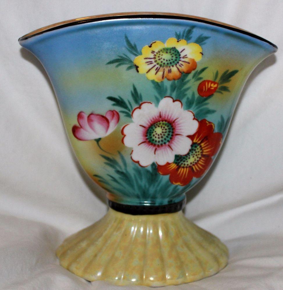 Vintage trico china hand painted nagoya japan floral lusterware vintage trico china hand painted nagoya japan floral lusterware vase beautiful 6500 reviewsmspy