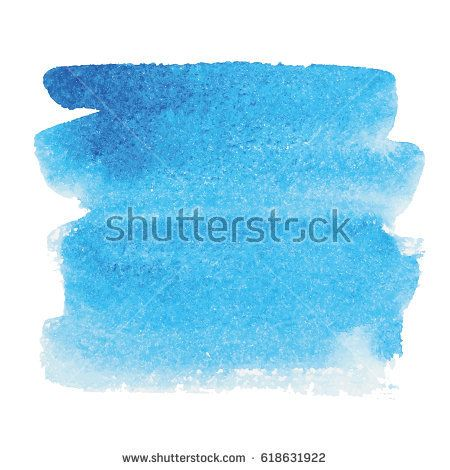 Blue Watercolor Splash Vector Illustration Isolated On White