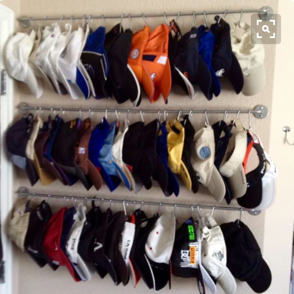 hat storage organization home organization pinterest