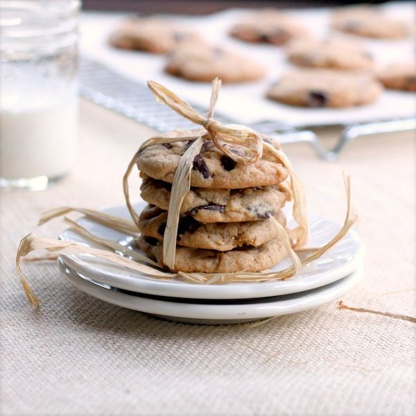 Almond Butter Chocolate Chip Cookies Recipe by Lynda Balslev - Read More at Relish.com