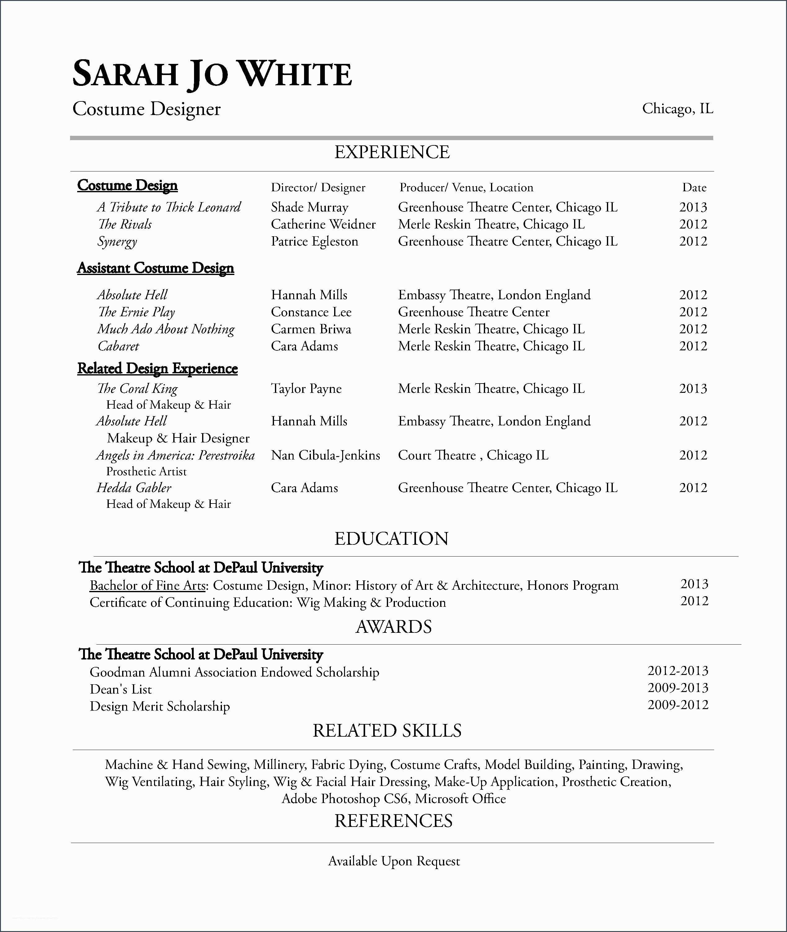 Student Resume Meaning